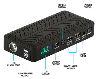 Rugged Geek 600A Portable Jump Starter