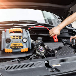 POTEK Car Jump Starter with 150 PSI Tire Inflator